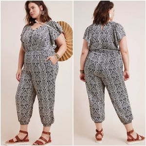 NWT Anthropologie Zadie Satin Jumpsuit w/ Pockets